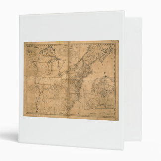 United States Map according to the Treaty of Paris 3 Ring Binder