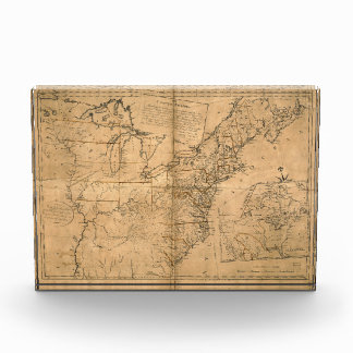 United States Map according to the Treaty of Paris Award