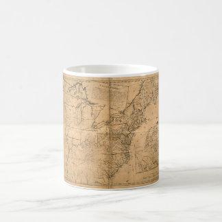 United States Map according to the Treaty of Paris Coffee Mug
