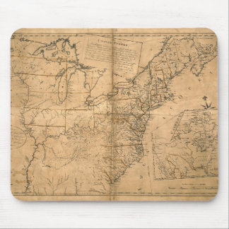 United States Map according to the Treaty of Paris Mouse Pad