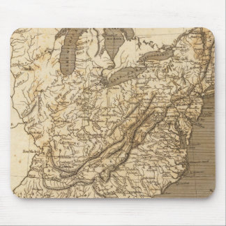 United States Map by Arrowsmith Mouse Pad