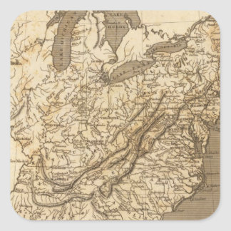 United States Map by Arrowsmith Square Stickers