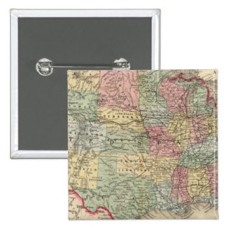 United States Map by Mitchell Pinback Button