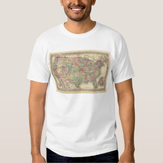 United States Map by Mitchell Tee Shirt
