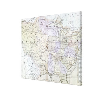 UNITED STATES MAP, c1812 Canvas Print