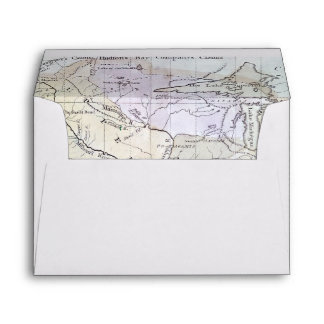 UNITED STATES MAP, c1812 Envelope