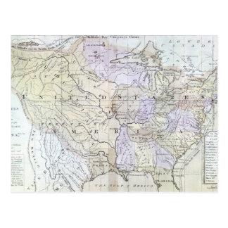 UNITED STATES MAP, c1812 Postcard