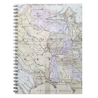 UNITED STATES MAP, c1812 Spiral Notebook