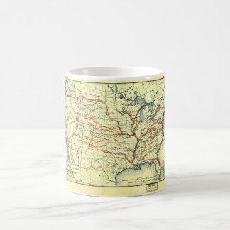 United States Map Explorer Routes 1501 to 1844 Coffee Mug