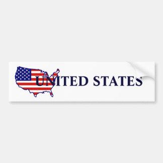 United States Map Flag Bumper Sticker
