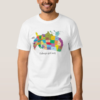 United States Map (I always get lost) T Shirt