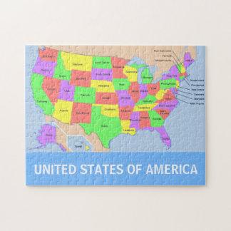 United States Map Photo Puzzle