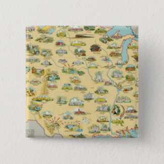 United States Map Pinback Button