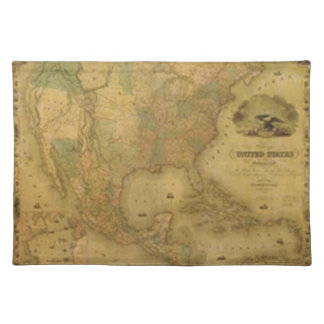 United States Map Placemat Cloth Placemat