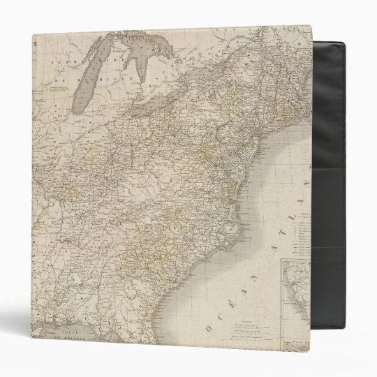 United States Map showing settlements Binder
