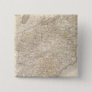 United States Map showing settlements Pinback Button
