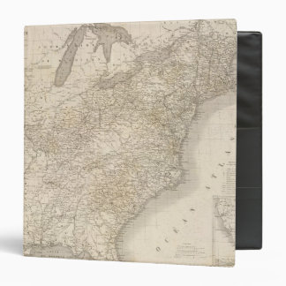 United States Map showing settlements Vinyl Binder