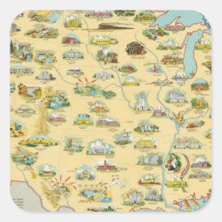 United States Map Sticker