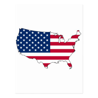 United States map US Postcard