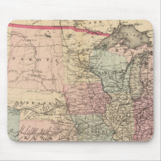 United States Map with Pony Express Route Mouse Pad