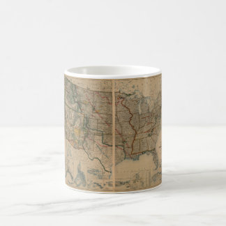 United States Map with Territories (1923) Coffee Mug
