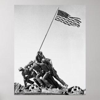 United States Marine Corps Flag Raising Print