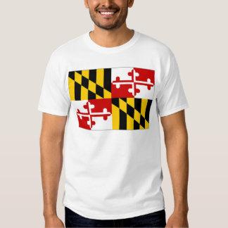 United States Maryland Flag Tee Shirt