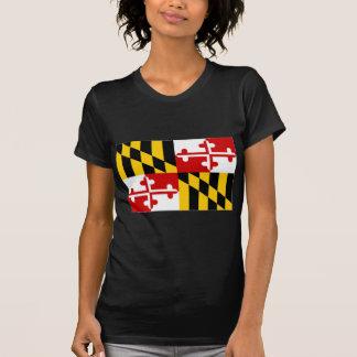 United States Maryland Flag Tee Shirts