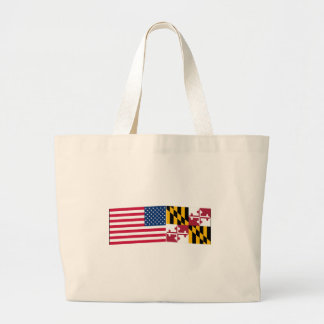 United States & Maryland Flags Bag