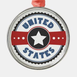United States Metal Ornament