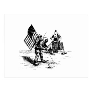 United States Moon Landing Postcard