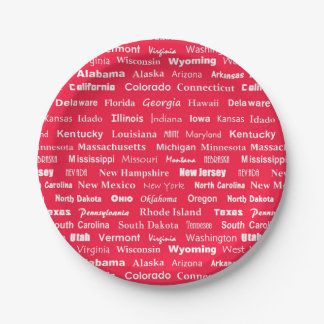 United States names paper plate