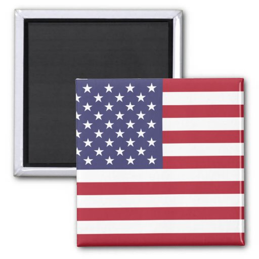 United States National Flag 2 Inch Square Magnet
