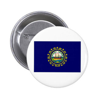United States New Hampshire Flag Pinback Button