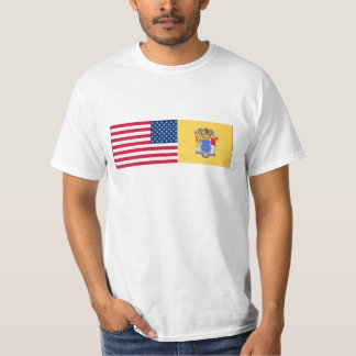 United States & New Jersey Flags T-Shirt