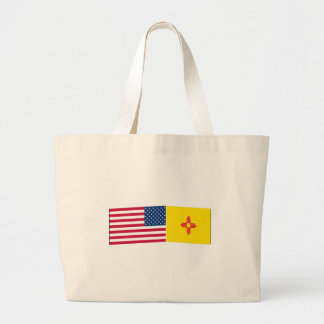 United States & New Mexico Flags Tote Bag