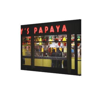 United States, New York. Gray's Papaya: window Canvas Print
