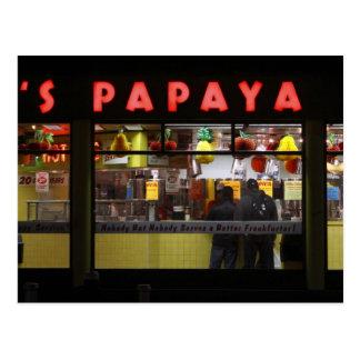 United States, New York. Gray's Papaya: window Postcard