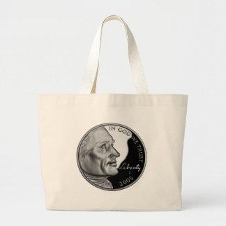 United States Nickel Jumbo Tote Bag
