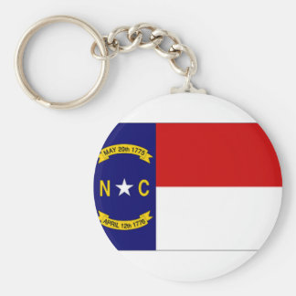United States North Carolina Flag Basic Round Button Keychain