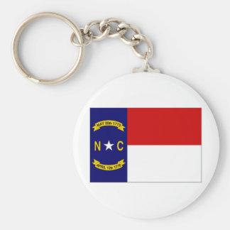 United States North Carolina Flag Keychain