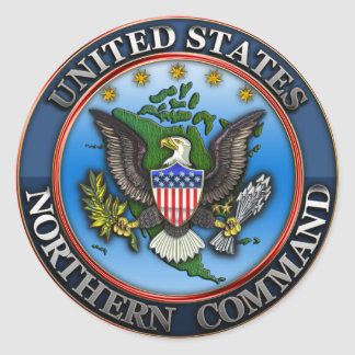 United States Northern Command Classic Round Sticker