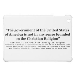United States Not Founded on Christian Religion iPad Mini Cases