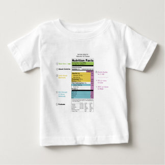 United States Nutritional Fact Label Detail Chart Baby T-Shirt