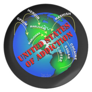 United States of Addiction Plate