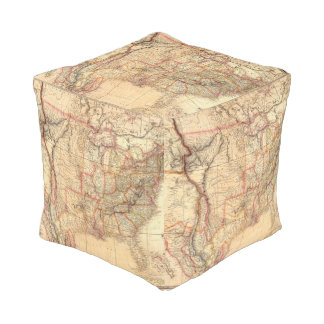 United States of America 12 Cube Pouf
