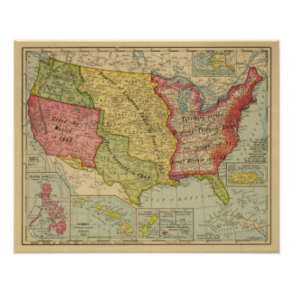 United States of America, 1900 Poster