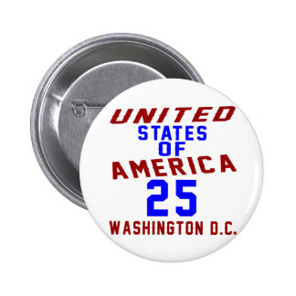 United States Of America 25 Washington D.C. Button