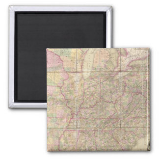 United States of America 2 Inch Square Magnet