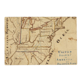 United States of America 2 Laminated Place Mat